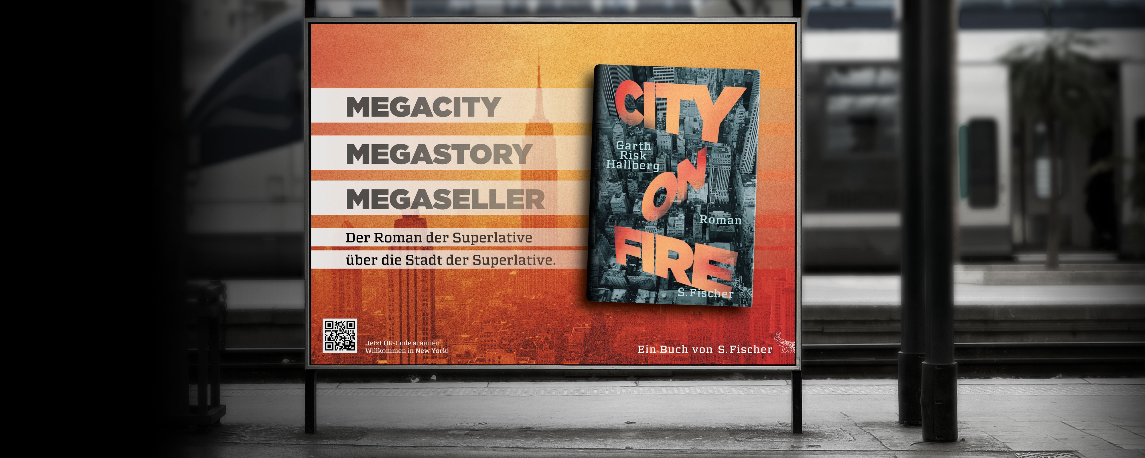 Fischer – Garth Risk Hallberg; City on fire Großflächenplakat