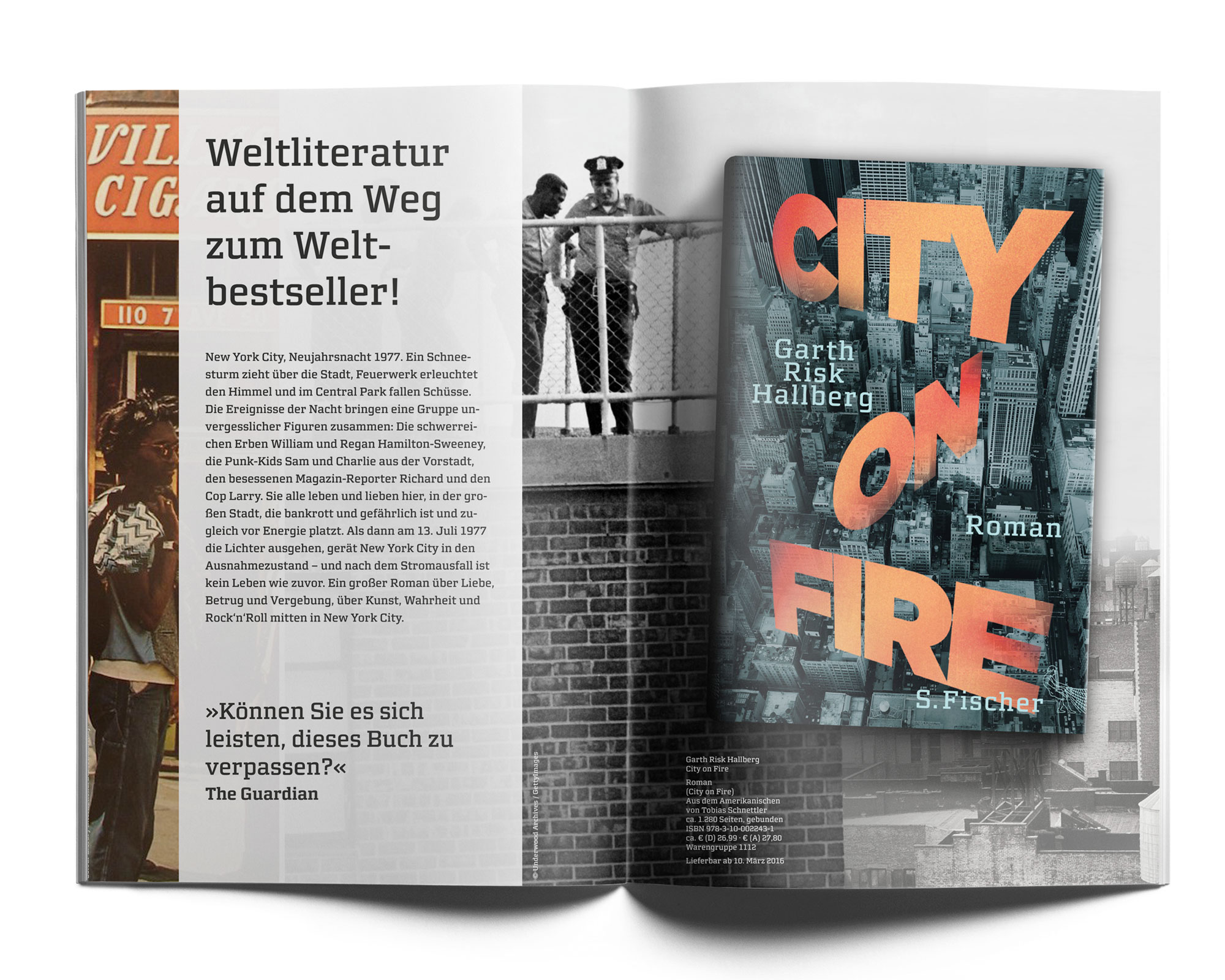 Fischer – Garth Risk Hallberg; City on fire Handelsfolder